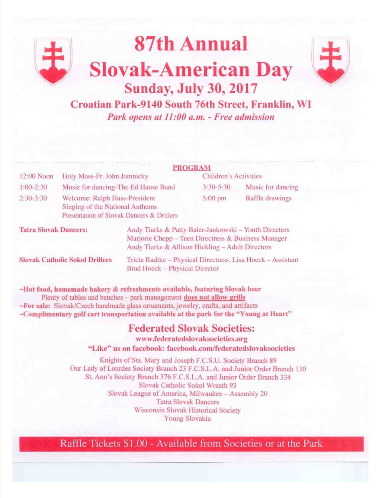 87th Slovak Day